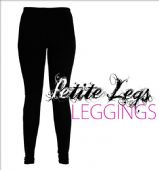 Black Leggings |  Free Stretch UK Sizes 2 - 12 | Petite Leg Inseam 24.5 inches